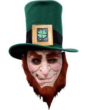 Máscara de leprechaun irlandés de látex para adulto
