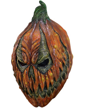 Besatt Gresskar Latex Maske for Voksne