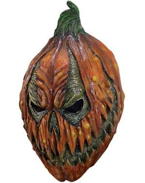Maschera zucca diabolica in lattice per adulto