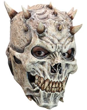 Maska szkielet z rogami lateksowa dla dorosłych