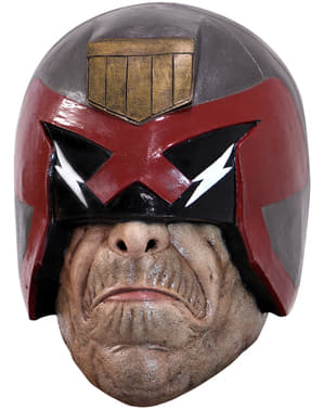 Máscara de Juez Dredd de látex para adulto