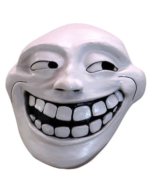 Trollface latex mask for adults