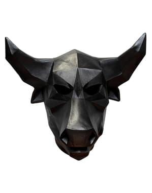 Latexová maska pro dospělé geometrický býk Low-Poly