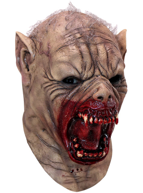 Máscara de hombre lobo sangriento de látex para adulto