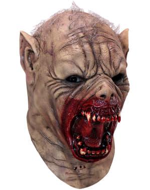 Maschera lupo mannaro cruento in lattice per adulto