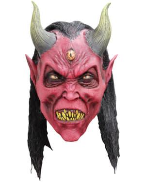 Máscara de demonio del tercer ojo de látex para adulto