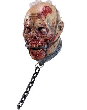 Maska zombie niewolnik lateksowa dla dorosłych