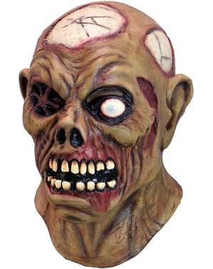 Máscara de zombie ciego de látex para adulto