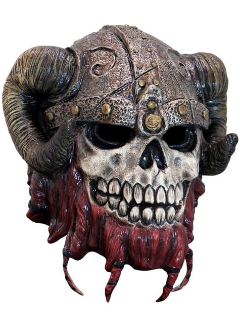 Ενήλικες Μάσκα λατέξ κόκκινων γενειάδων σκελετών