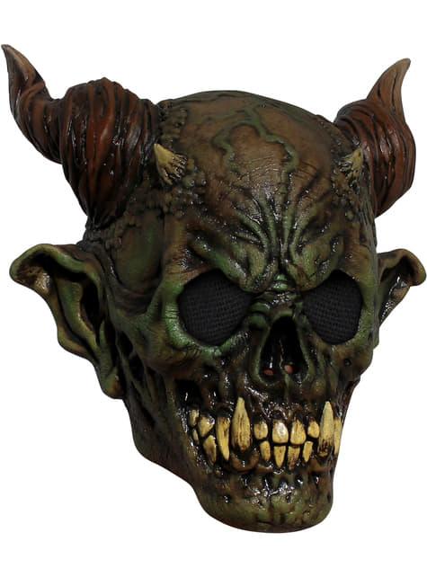 Máscara de demonio del pantano de látex para adulto