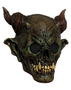 Masque démon du marais en latex adulte