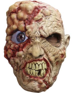 Maska zombie szalonooki digital lateksowa dla dorosłych