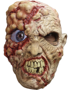 Zombie mit verrücktem Auge Digital Latex-Maske für Erwachsene
