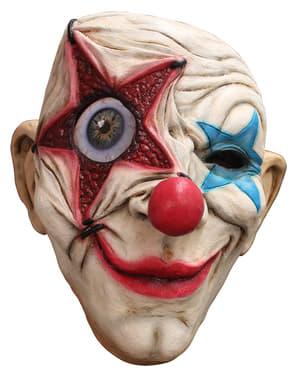 Mask clown med stjärnor i latex för vuxen