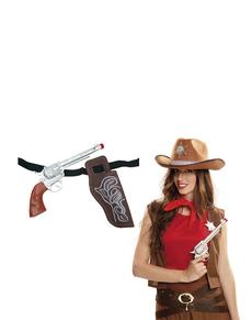 Revolver de funda de vaquero