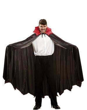 Kırmızı boyunlu yetişkin Deluxe Vampire cape