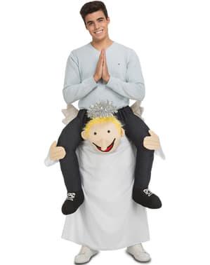 Huckepack Kostüm Engel für Erwachsene