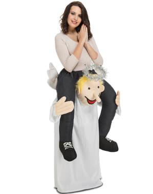 Piggyback Engel Kostuum voor volwassenen