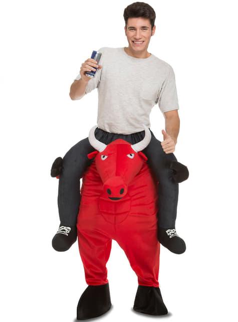 Disfraz de ojo con el toro ride on para adulto