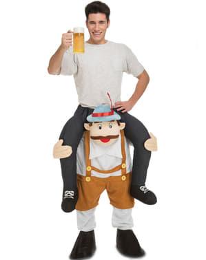 Tiroler ride on kostuum voor volwassenen