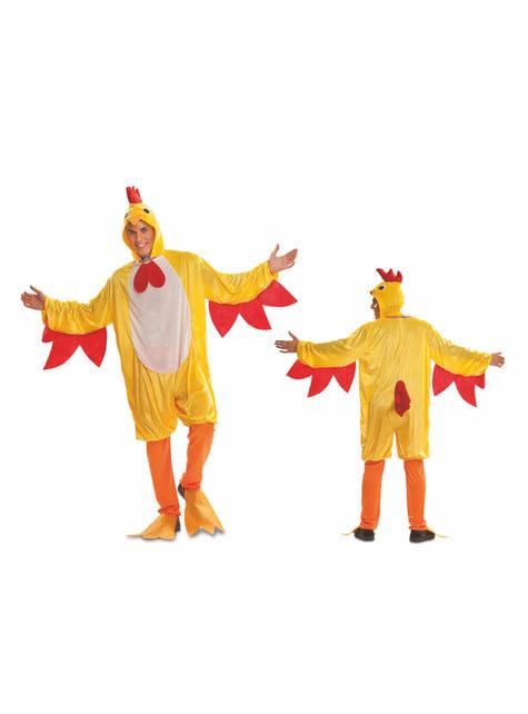 Disfraz de gallo de corral para adulto - original