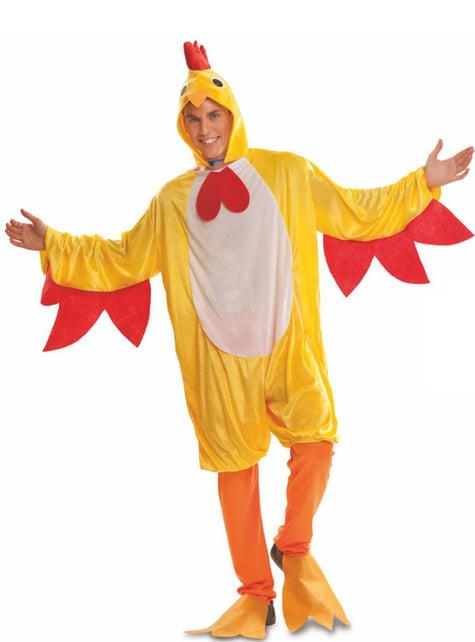 Disfraz de gallo de corral para adulto