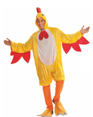 Costume da gallo del pollaio per adulto