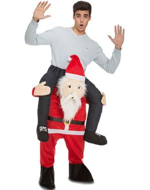 Julenisse på skulderen kostyme til voksne