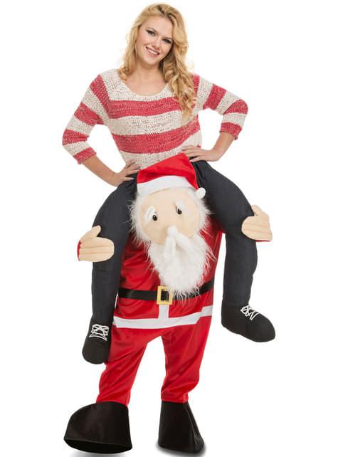 Disfraz a hombros de Papá Noel para adulto - adulto