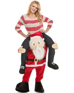 Weihnachtsmann Huckepack Kostüm für Erwachsene