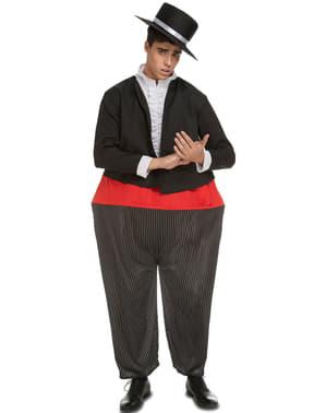 Disfraz de cantaor gordinflón para adulto
