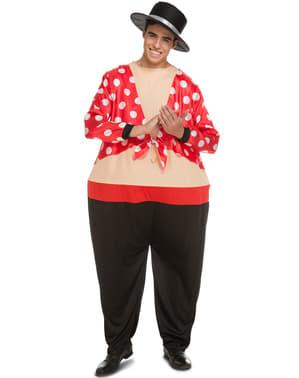 Disfraz de cordobés gordinflón para adulto