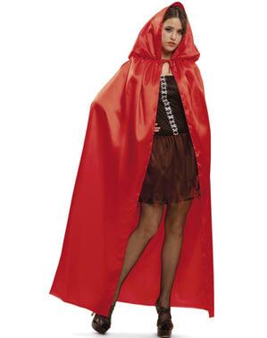 Plášť pro dospělé lesklý červený