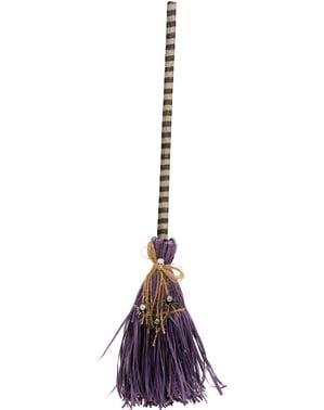 Balai violet avec araignées fille
