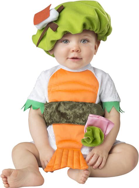 Fato de sushi para bebé