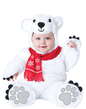 Disfraz de osito polar adorable para bebé