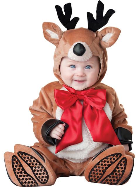 Fato de rena natalícia para bebé