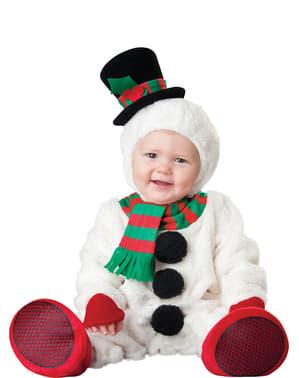 Maskeraddräkt snögubbe söt för bebis