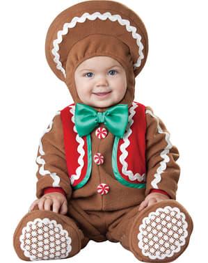 Costume da biscotto di zenzero per neonato