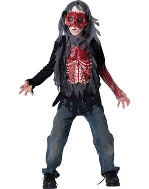 Blutiges Skelett Kostüm für Kinder