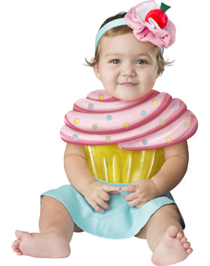 Fato de cupcake irresistível para bebé