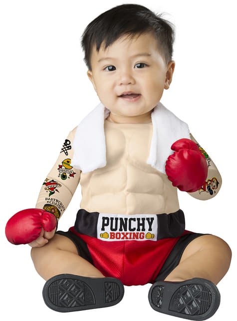 Fato de pugilista forte para bebé