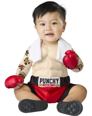 Disfraz de boxeador forzudo para bebé