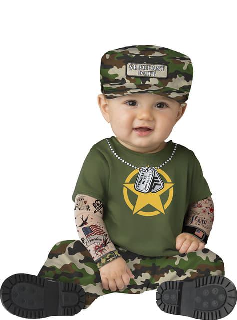 Fato de militar rebelde para bebé
