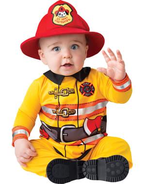 Costumul pompierului curajos al bebelușului
