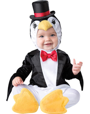 Costum de pinguin elegant pentru bebeluși