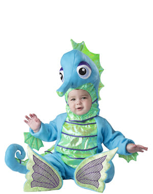 Disfraz de caballito de mar brillante para bebé