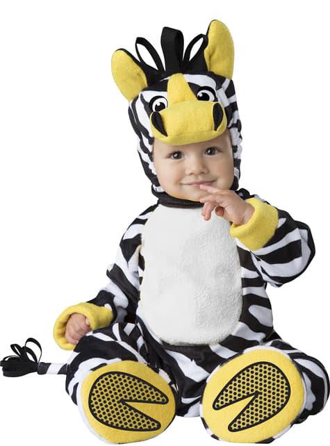 Fato de zebra da savana para bebé