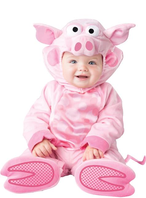 Fato de porco amoroso para bebé