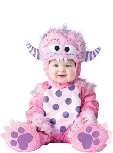Fato de monstrinho rosa para bebé